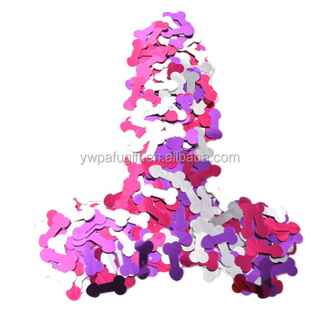 hot seller pecker shaped plastic bachelorette party confetti