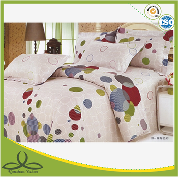 round small circle printed bedding set