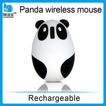 2.4G panda wireless mouse with rechargeable battery