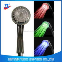 ABS Chromed Smart Round Color Changing LED Hand Shower