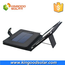 With PVC case and holder portable 8000mah foldable solar charger for ipad mini