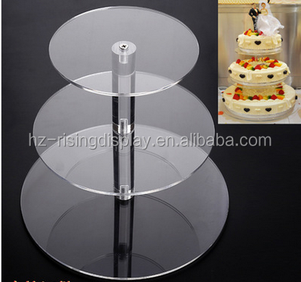 3 tier wedding glass cake stand acrylic pedestal stands