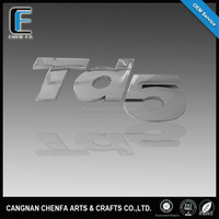"DEFENDER ""TD5"" 3D chrome letters car sticker emblem"