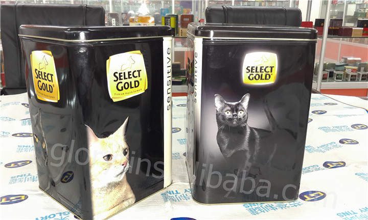 large pet food container, storage tin box