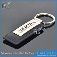 Promotional blank leather key chain/hot new products for 2014 blank leather key fobs