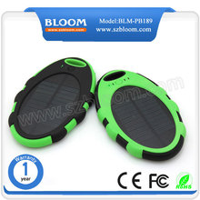 Hot new products for 2015 waterproof power bank 5000mah portable rohs solar cell phone charger with instruction