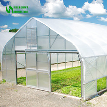 Steel Tunnel Hoop Greenhouse For Mushroom Growing