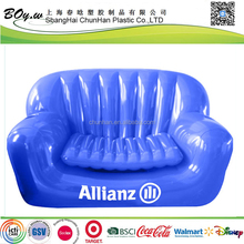 Factory OEM logo printing party furniture large air chair 2 persons pvc double inflatable cooler sofa