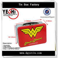 wholesale rectangle metal blank tin lunch box factory in Dongguan China