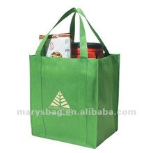 Non-woven Shopper Tote Bag with Matching Colored Bottom Insert