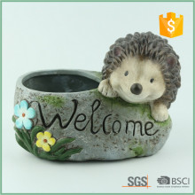 Ceramic Decorative Flower Pot With Hedgehog