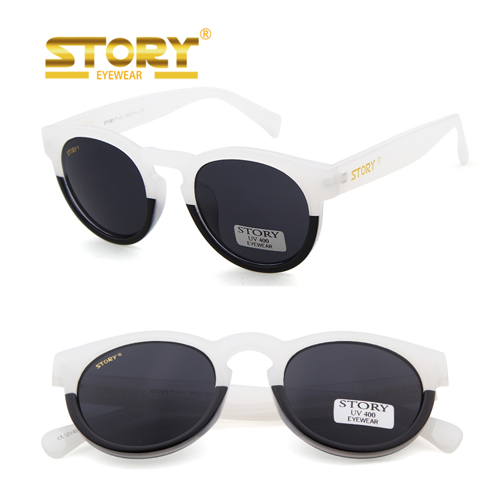 STORY STY401 logo Thick Acetate-look Fashionable Sunglasses Wholesale Retro Vintage Round Sunglasses <strong>China</strong>