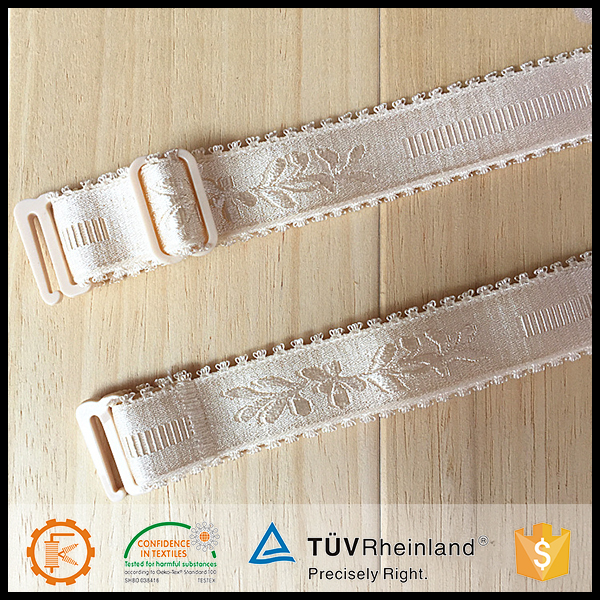 Best quality customized lycra jacquard elastic bra straps wholesale