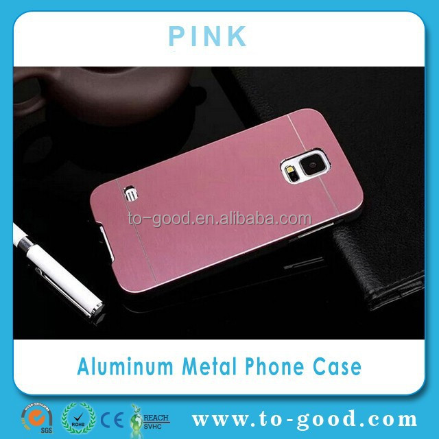 For Samsung Galaxy S5 Aluminum Metal Bumper Case (Pink)