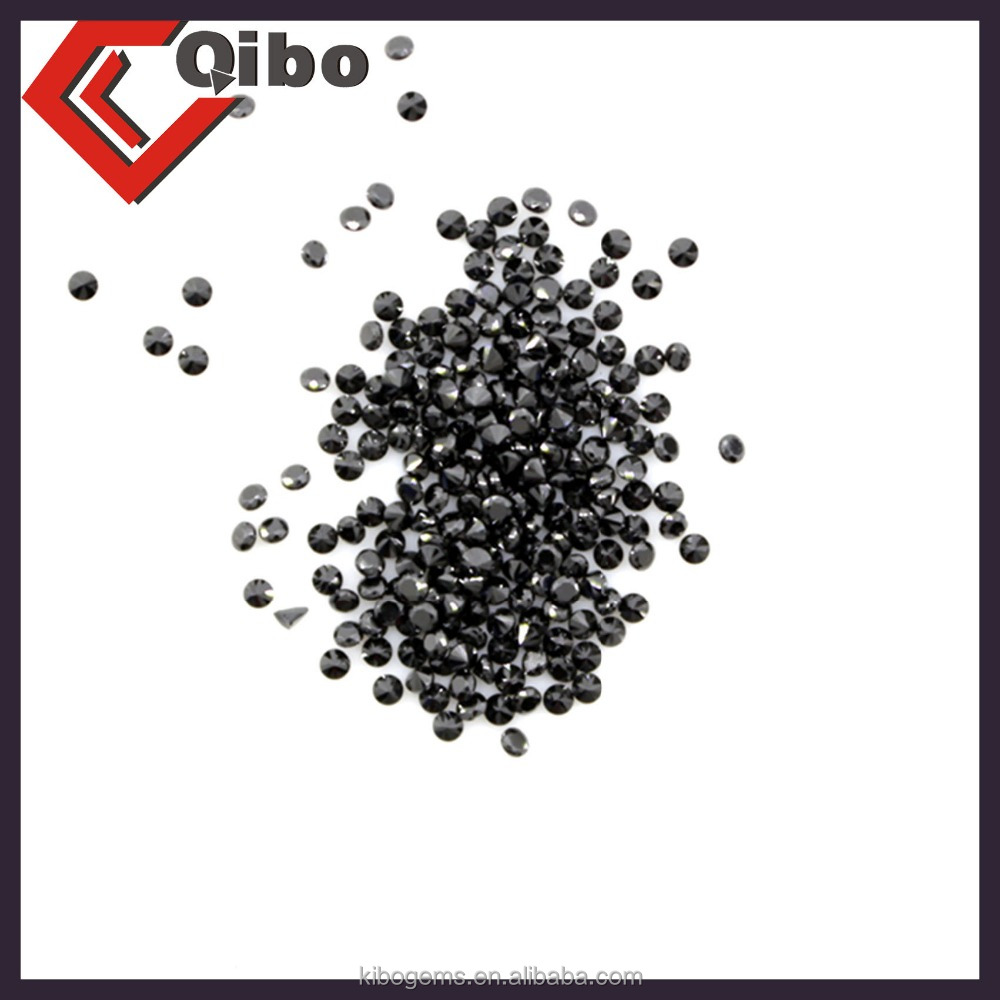 Large Stock with Factory Price Small Size Round Black Sapphire 0.8-4mm