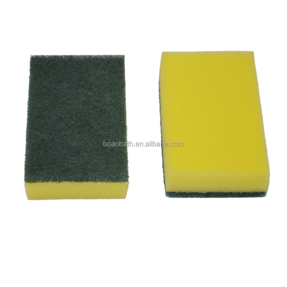 Eco-Friendly household kitchen Scouring Pad With Sponge Cheap Dishwashing Sponge