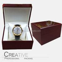 Commercial square wooden clamshell watch box exquisite watches packaging box