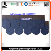 Colorful Fish Scale Asphalt Shingles And Bitmen Roofing Shingle Tile