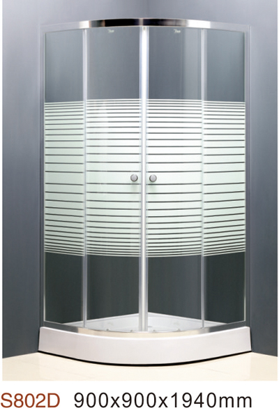 [YAJIAQI]Hot sale 4mm/6mm clear glass,chromed aluminum profile ,curved shower cabin/simple shower enclosure
