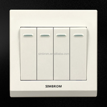 Qualified hot sale creative wall outlet dimensions 4 gang Switched Socket