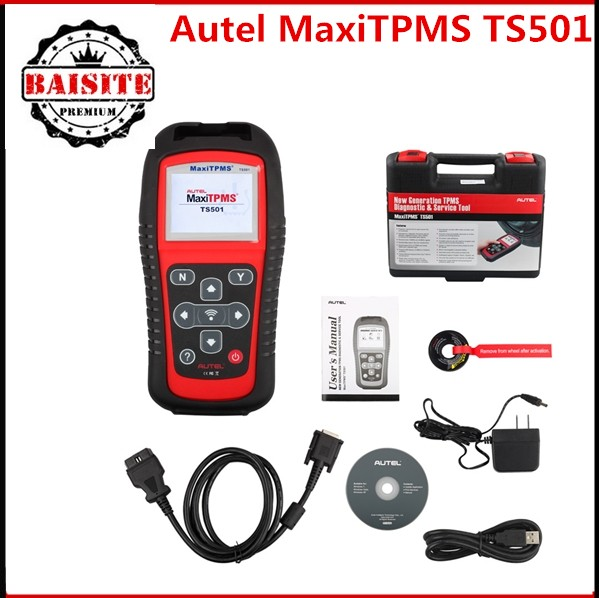 Update online!!2016 hot sales AUTEL MaxiTPMS TS501 With OBD2 Adapters TPMS Diagnostic & Service Tool in stock