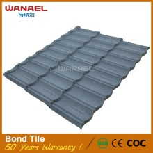 Bond Wanael Low Cost House Construction Material Stone Coated Metal Roof Tile, Construction Materials Price List