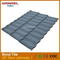 Bond Wanael low cost house construction material/stone coated metal roof tile/construction materials price list