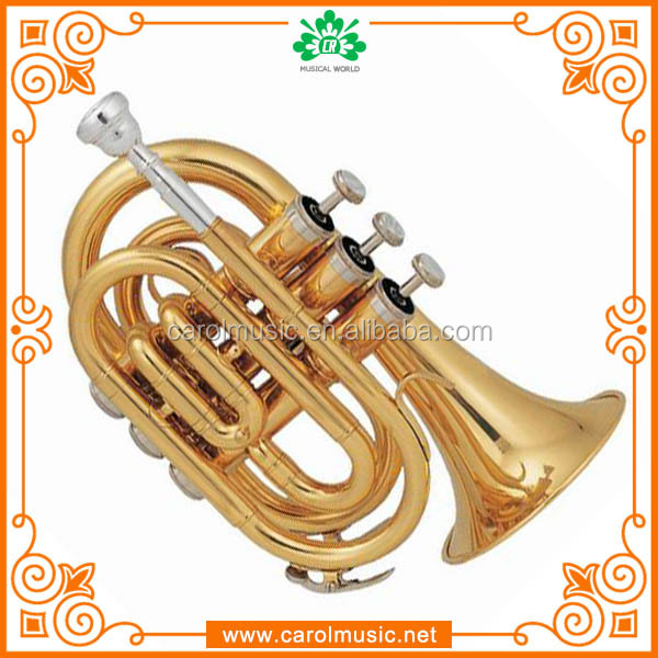TR101 Replica musical instruments cheap Bb Key Brass Pocket Trumpet sale