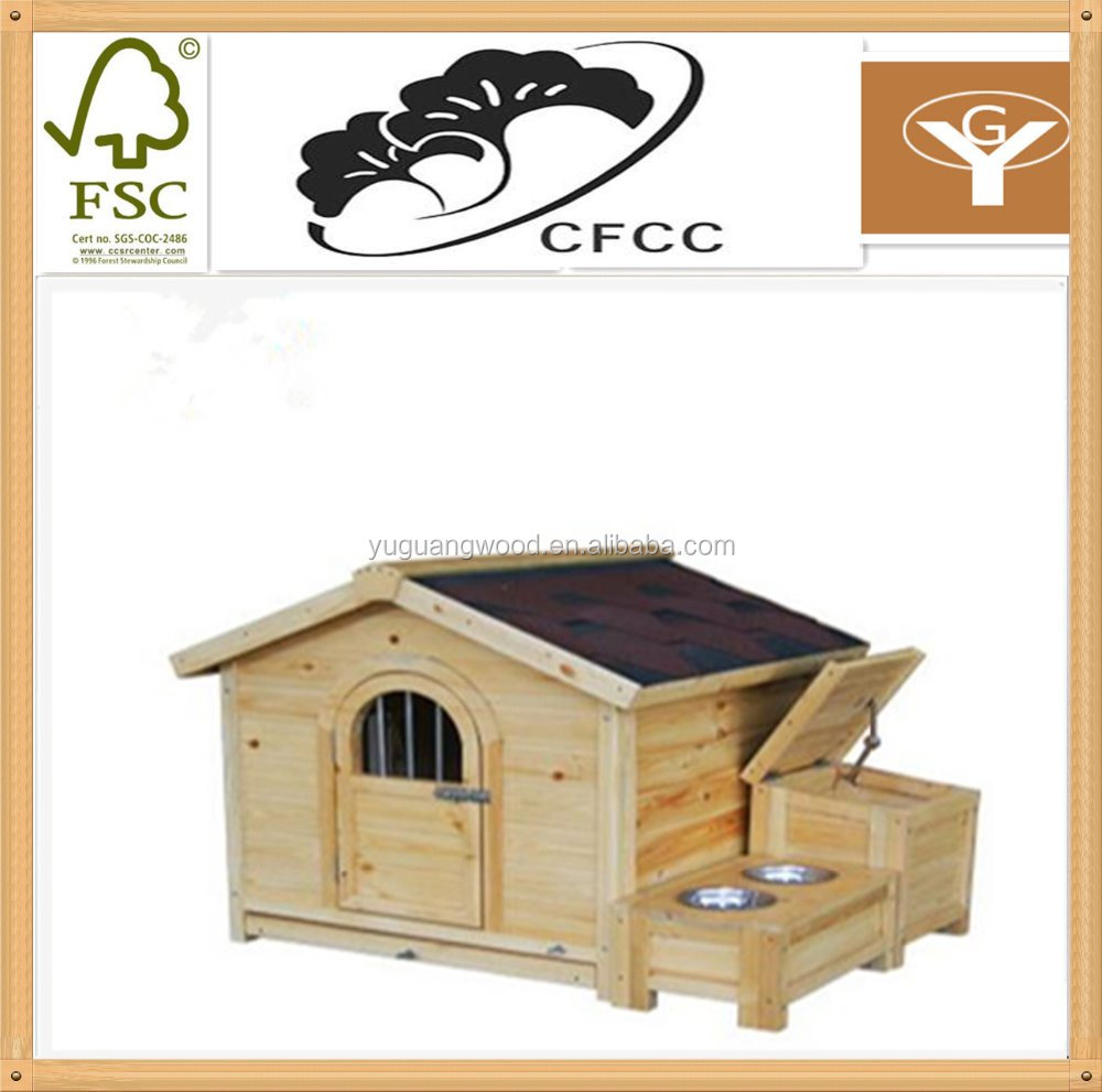 2016 flat and waterproof roof custom wooden dog house