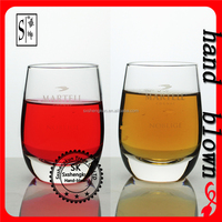wholesale handmade 260ml crystal heavy bottom whiskey glass ZWG0111