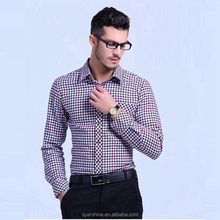 2016 New High Quality Men Plaid Shirt Spring Autumn Turn-down Collar Casual Shirts Cotton Slim Fit Men Striped Plus Size Men Clo