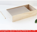 Custom Size Unfinished Sliding Lid Plain Wooden Box with clear window