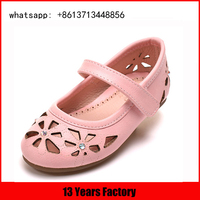 comfortable leather upper kids dress shoes for girls 10 years punch upper with lining bowknot kids fashion shoes