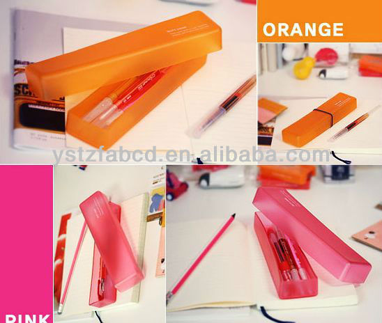 Student's creative silicone stationery boxes/silicone pencil case box