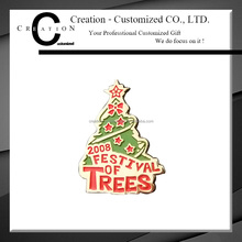 Trees Festival 2008 Christmas Gift Jingle Bell Tree Shape Lapel Pin Badge For Festival Lapel Badges Shop