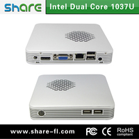 embedded mini pc x86 14*14CM with silver metal case used for school,office and kiocks