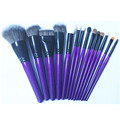 Sedona 14pcs purple makeup brush set, high quality 14pcs brush set, private logo, professional brush set