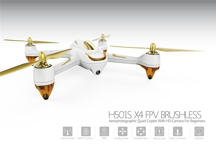 2016 grandes marques Hubsan Drone H501S X4 FPV brushless