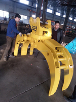 CE-approved excavator grapple