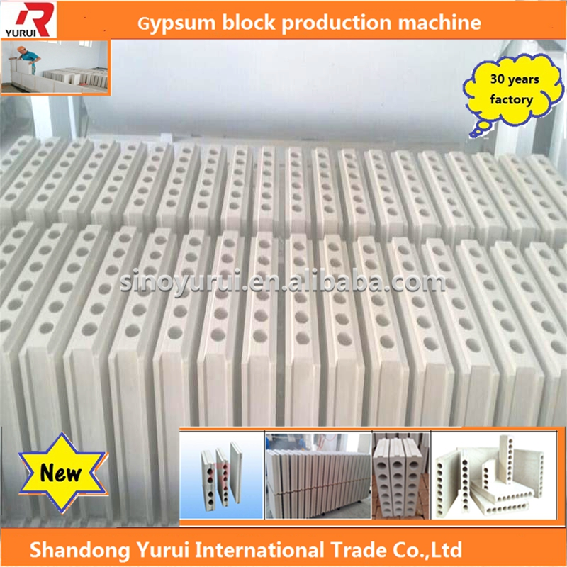 buy China gypsum machinery, sound-insulation fireproof plaster block making machine