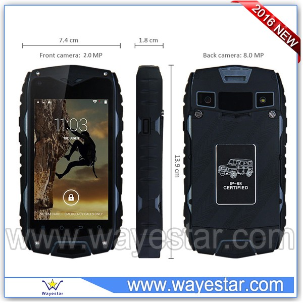 4 inch Dual SIM Android rugged cell phone 3G China wholesale