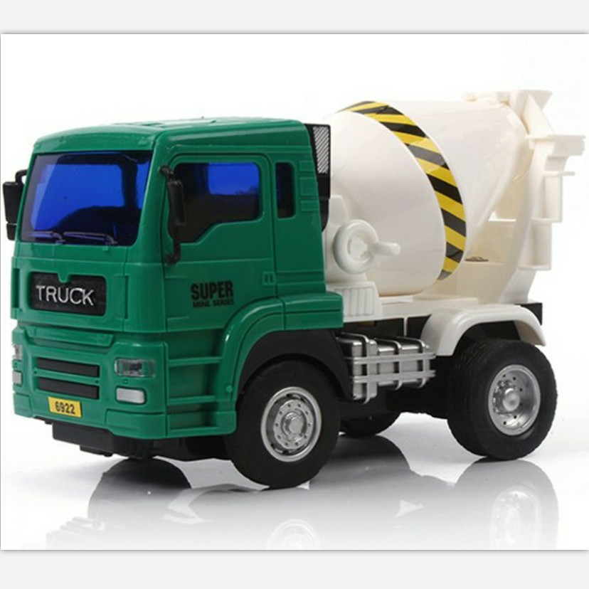 Wholesale <strong>friction</strong> powered plastic cement concrete mixer truck toy for kids gift