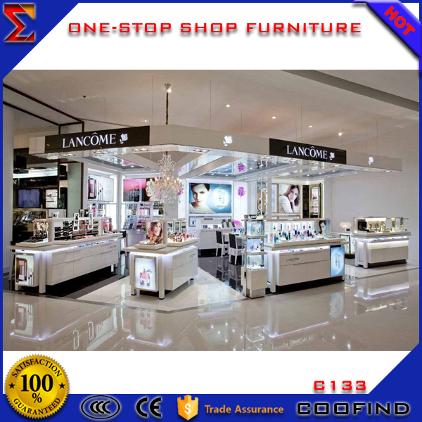 cosmetic shop display racks counter cosmetic showcase design
