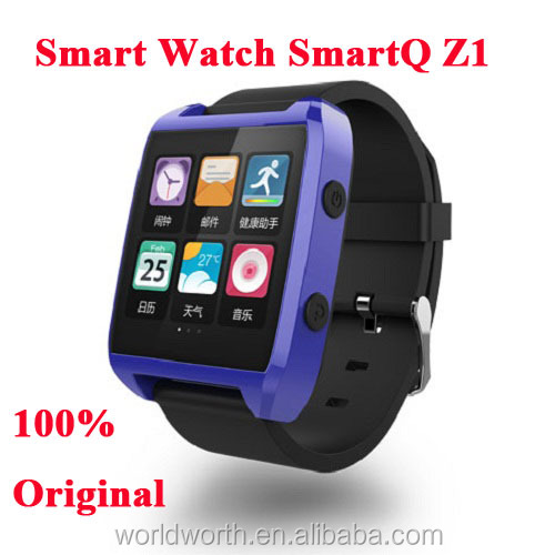 smartq z 100% Original SmartQ Z1 Smart Watch For Iphone / Samsung Galaxy Note3 WIFI Bluetooth Android 4.3