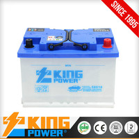 Lead acid Dry charged car batteries 56618(DIN66) 12V66AH King Power