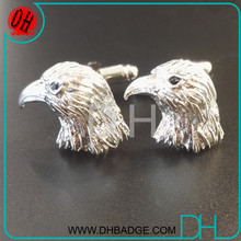 silver Plating Eagle Head Animal Novelty Cufflinks for men suit shirt