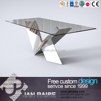 Dining room table dining set stainless steel dining table base