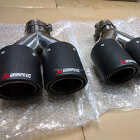 JZZ custom akrapovic dual carbon fiber exhaust pipe wholesale muffler tips for golf mk gti vw mk6 cc
