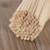 Solid natural bamboo bbq flat or round skewer