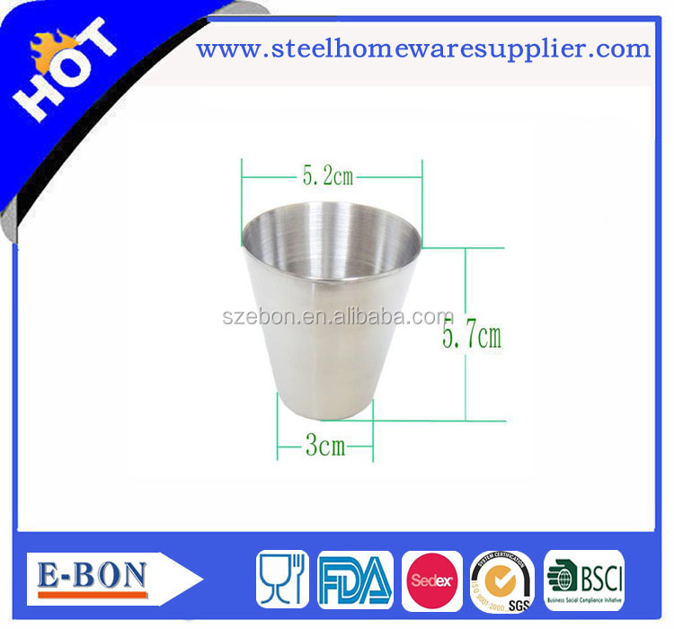stainless steel measuring drinking glass cup for bar